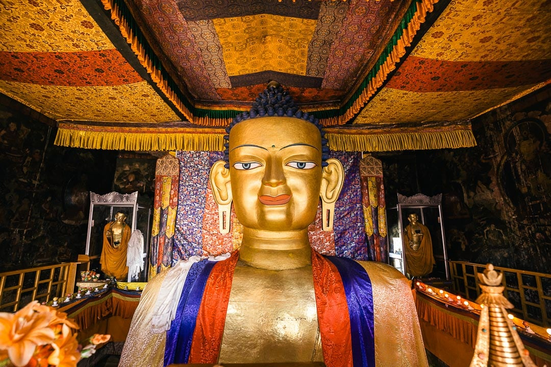 Shakyamuni Buddha at Shey Monastery
