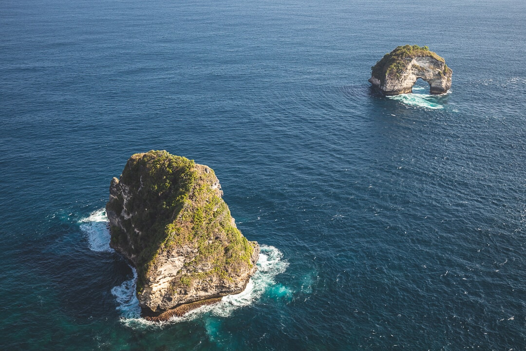 View from Banah Cliff on Nusa Penida Island