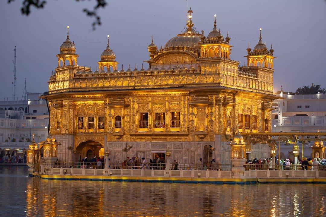 Amritsar Golden temple dusk India