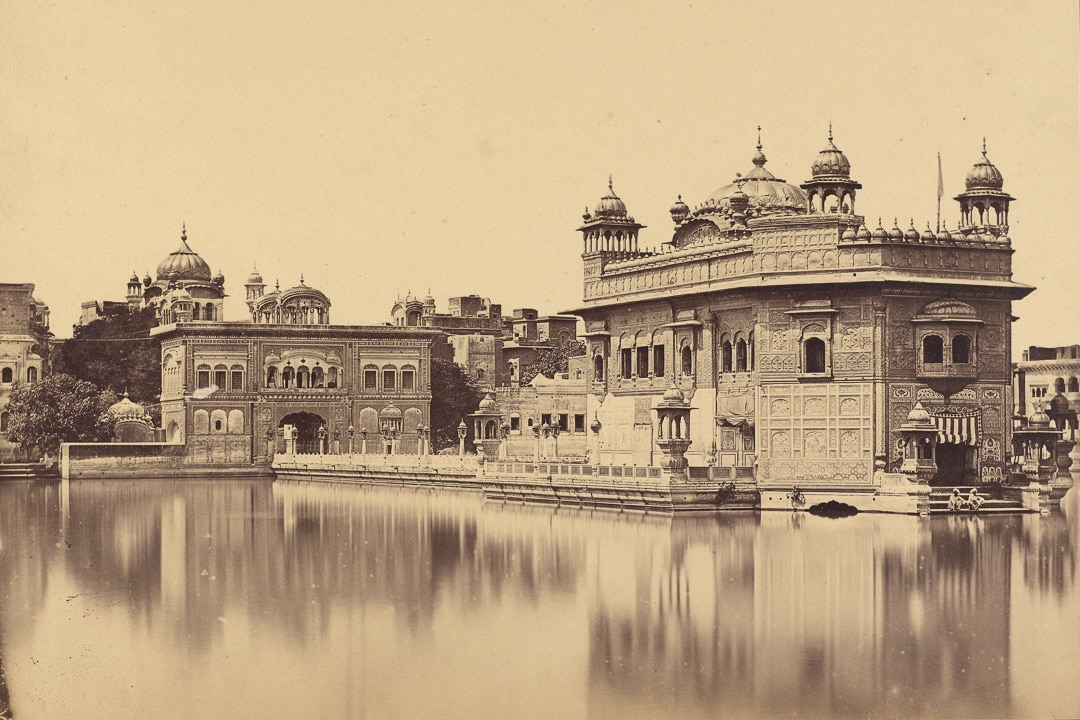 Felice Beato vintage photo of Golden Temple in Amritsar, India