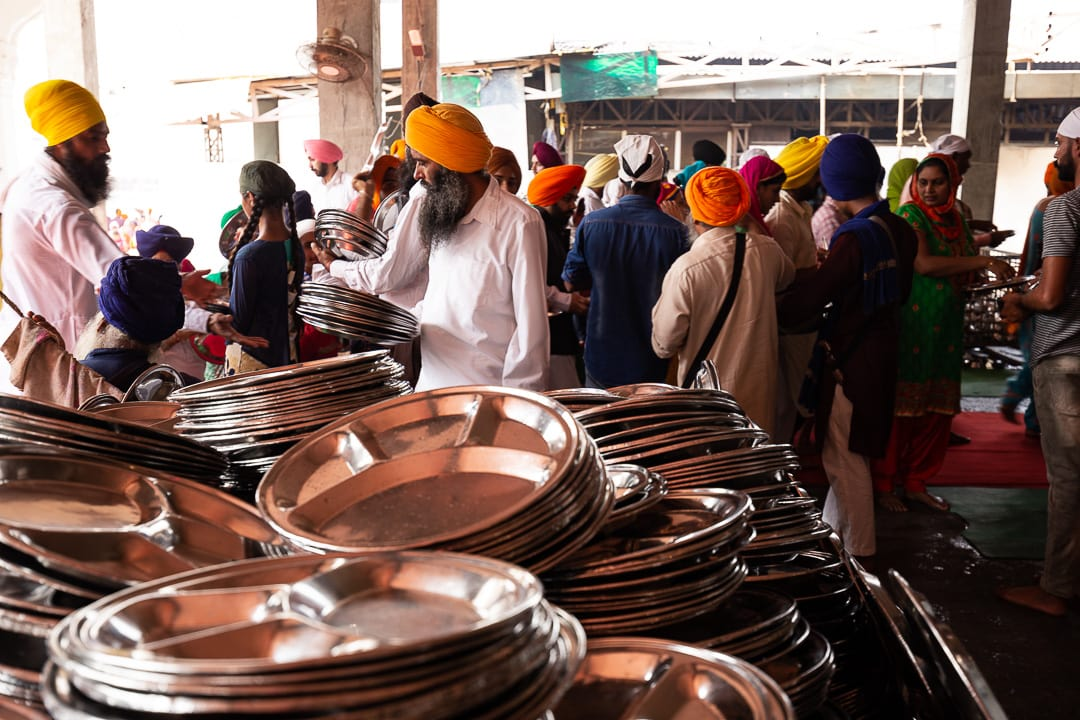 Dishes at the Golden Temple