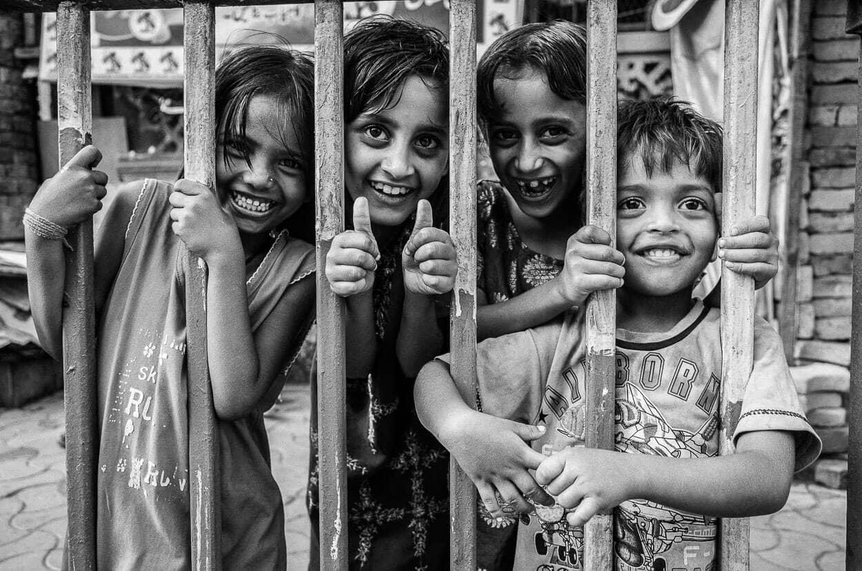 Local children in Kolkata, India. West Bengal