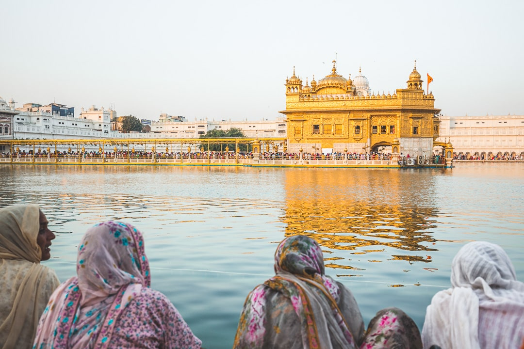 Female devotees at the Golden Temple