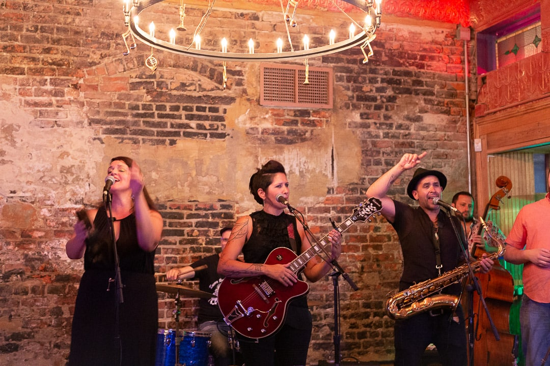 A live band plays at Bamboula's on Frenchmen street in New Orleans