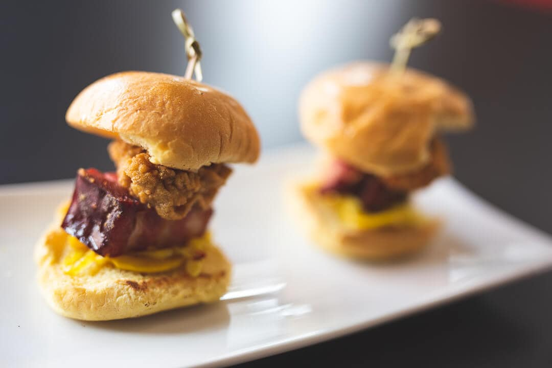 Happy hour sliders at Bistreaux restaurant in New Orleans