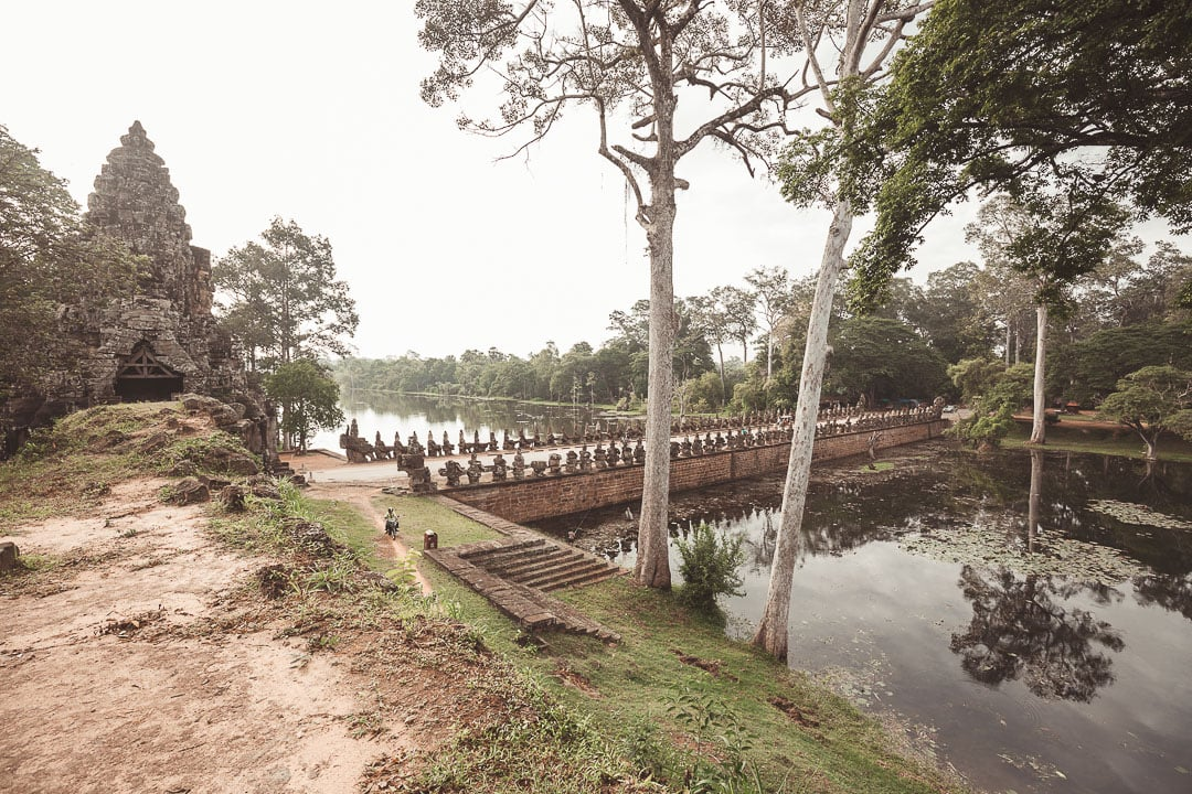 A view from the top of Angkor Thom south gate
