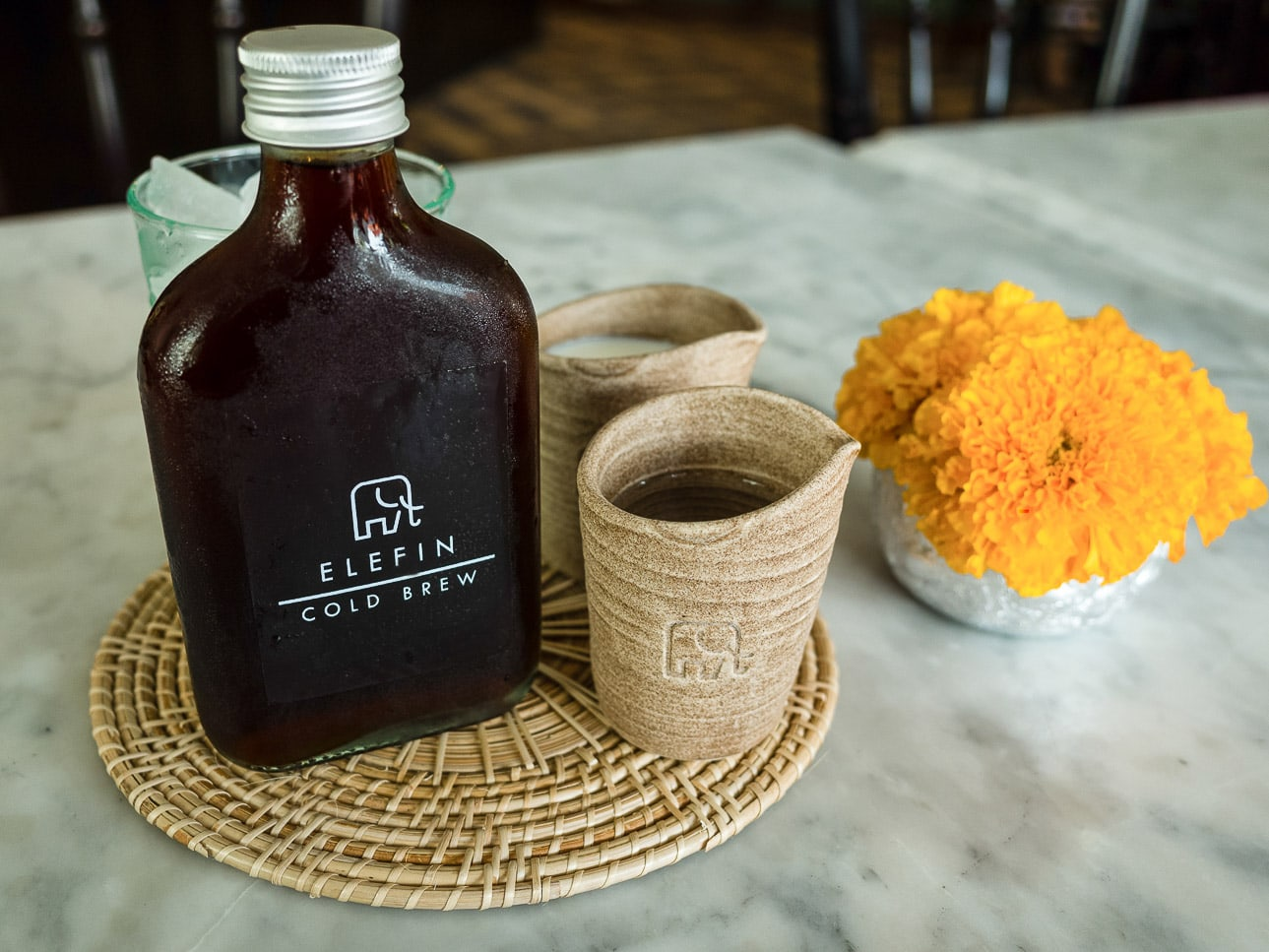 Cold brew coffee at Elefin coffeeshop in Bangkok, Thailand