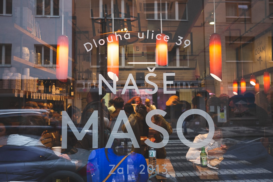 Nase Maso butcher shop in the Jewish town of Prague