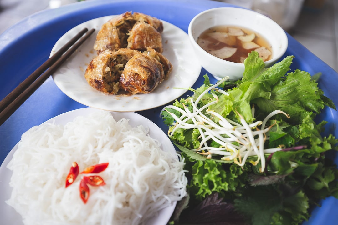 Nem cua be are fried crab spring rolls in Vietnamese cuisine