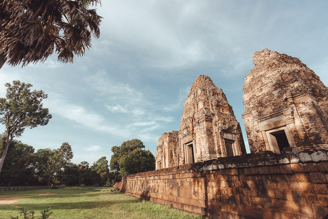 The Pre Rup temple sits in the early morning light in Cambodia