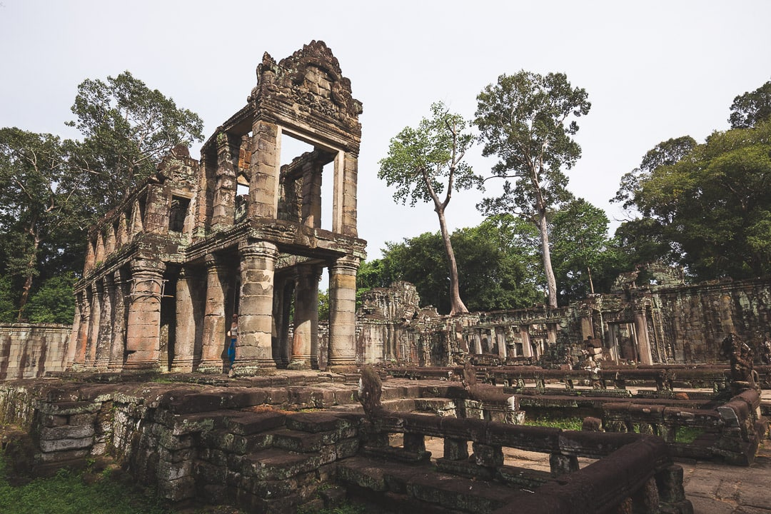 Preah Khan temple sits empty inside the Angkor Archaeological Park