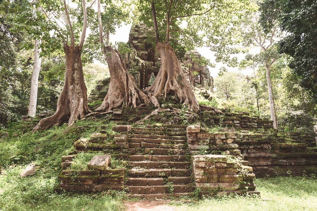 Preah Palilay sits in the jungle inside Angkor Thom