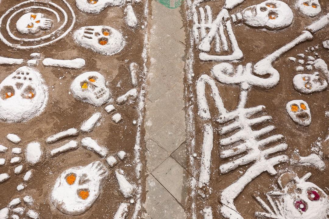 Tapetes de arena sandpaintings in Oaxaca