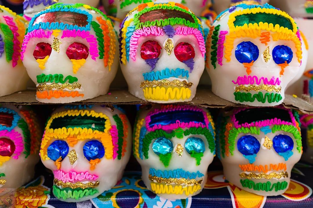 Sugar skulls for Day of the Dead Oaxaca calaveras de azucar