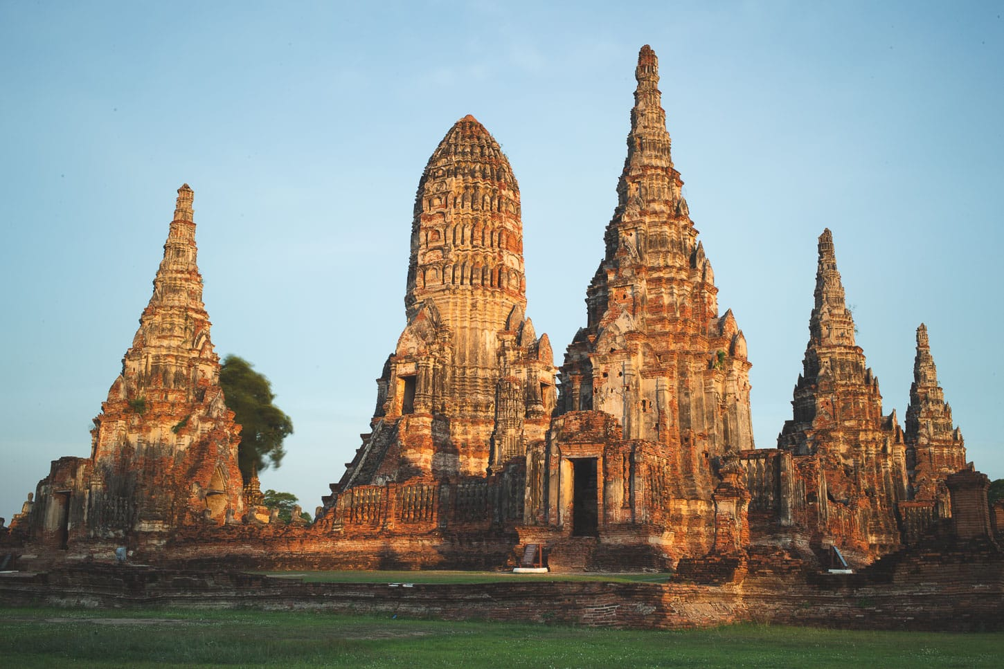 Sunset at Wat Chaiwatthanaram in Ayutthaya, Thailand