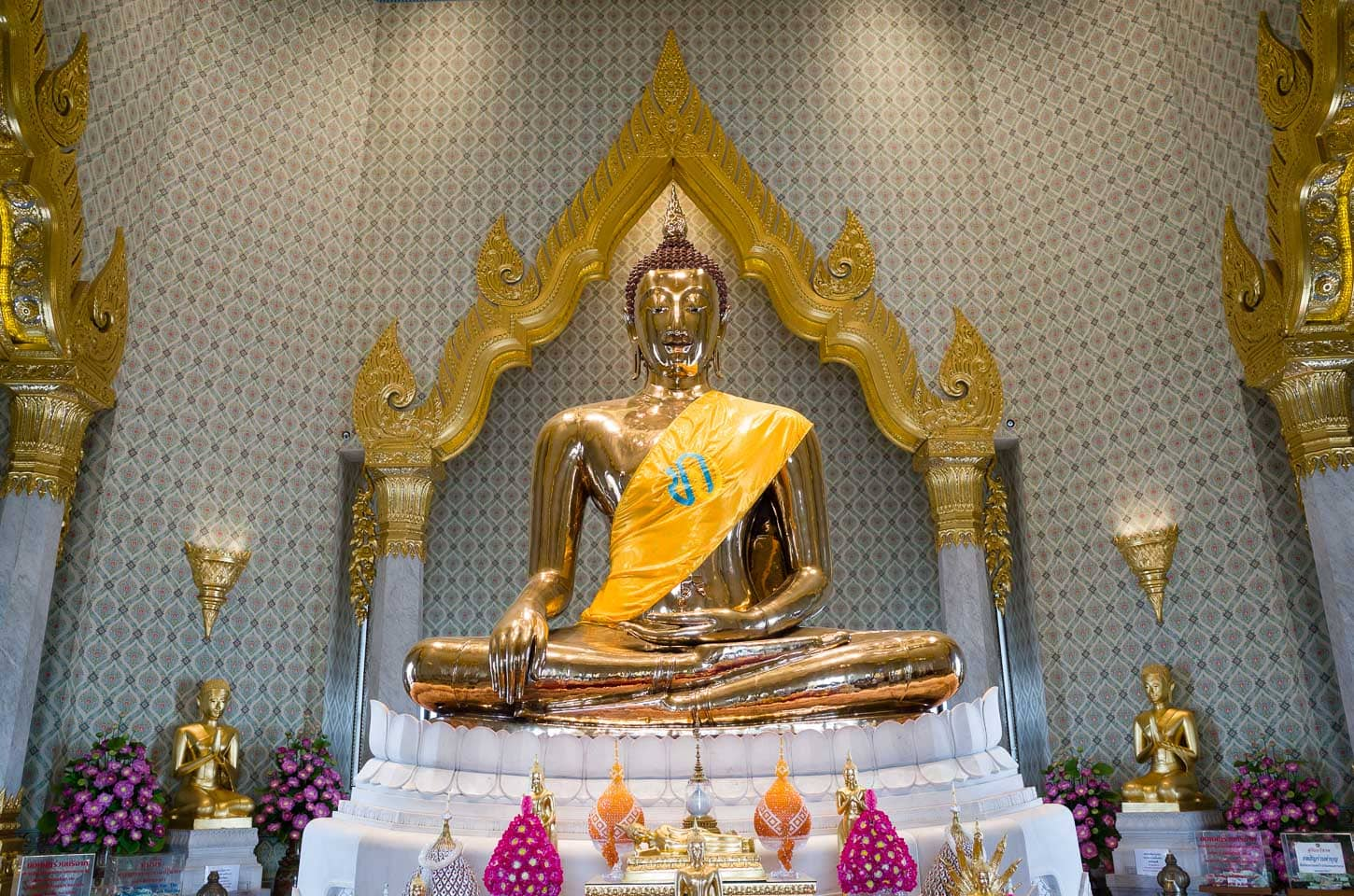 Solid gold Buddha at Wat Traimit temple in Bangkok, Thailand