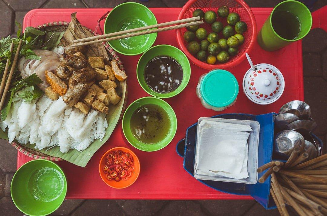 Bún đậu mắm tôm Hanoi, Vietnam