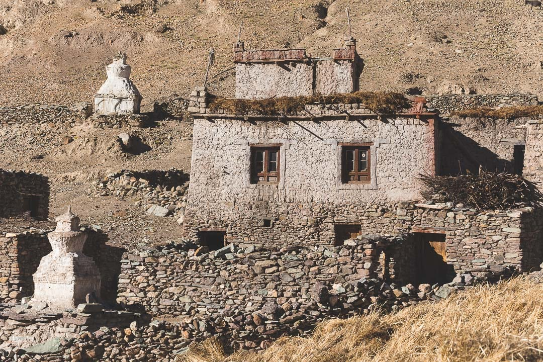 Hankar village along the Markha Valley trek in Ladakh, India