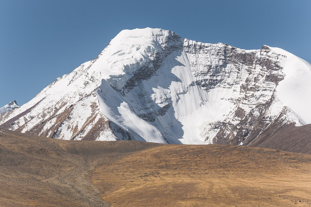 Snowy Kang Yatze peak standing at 6400 meters in Ladakh, Jammu Kashmir India