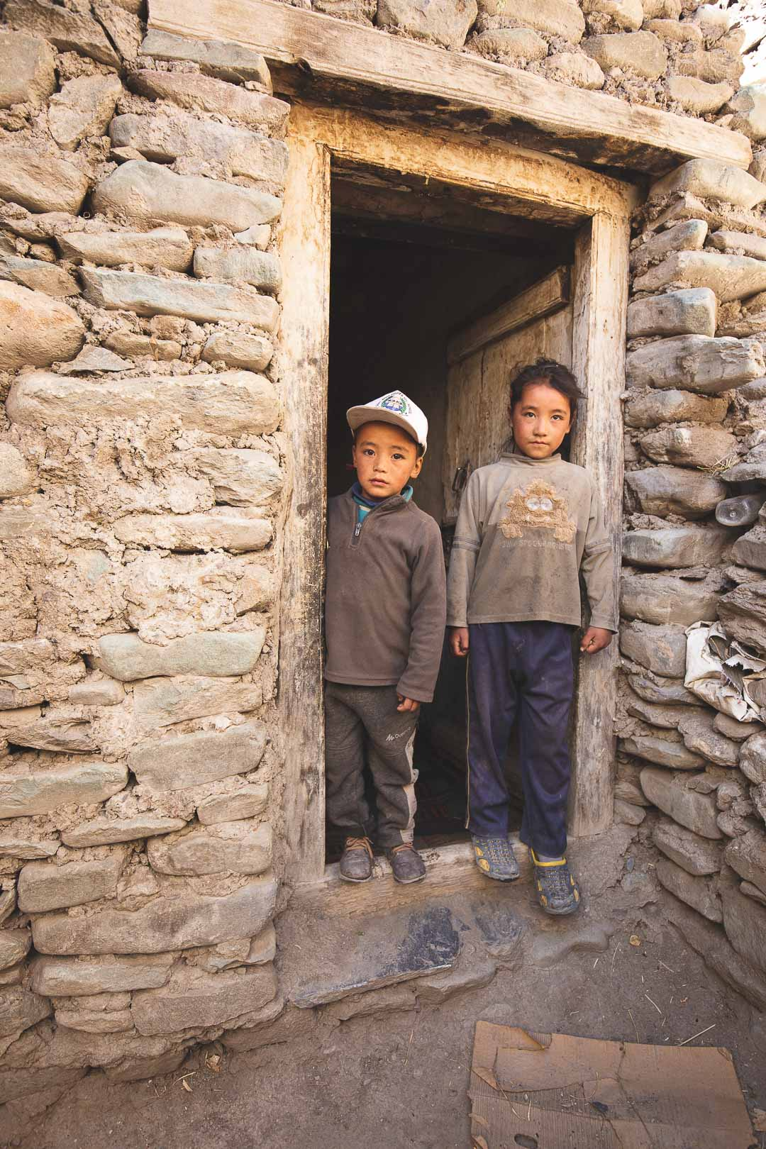 Local Ladakhi children in Markha village in India