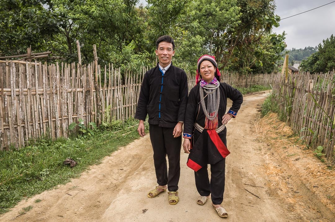 The owners of Ly Quoc Thang homestay in Nam Dam village in Ha Giang, Vietnam