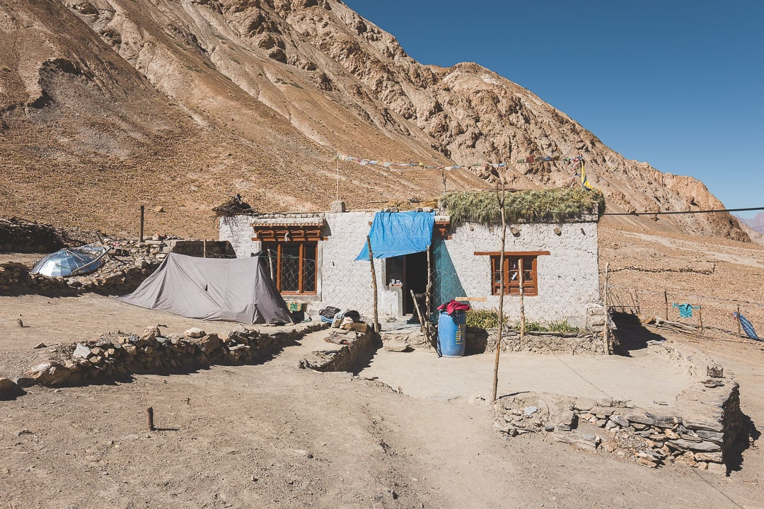 A homestay in Sara Village along the Markha Valley trek in Ladakh, India