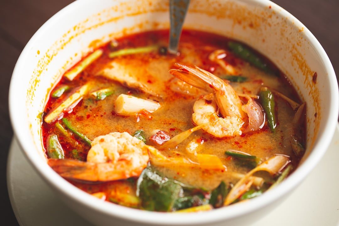 A bowl of Tom Yum Goong in Bangkok, Thailand