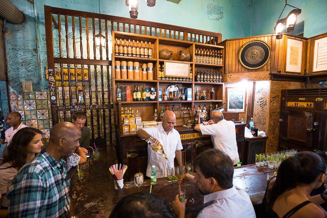 A view inside La Bodeguita del Medio in Havana