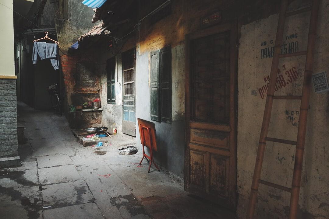 A quiet alleyway in the old quarter of Hanoi, Vietnam