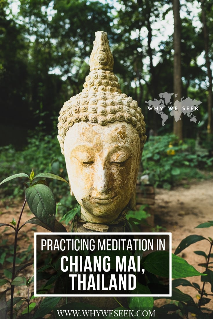 Pinterest graphic for Practicing Meditation in Chiang Mai, Thailand
