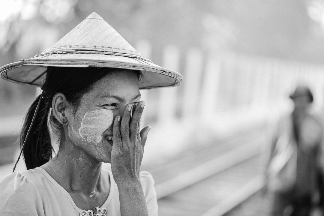 A laughing Burmese woman in Yangon, Myanmar photo essay