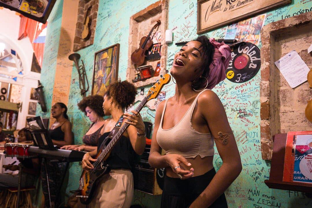 Van-Van Restaurant live music in Havana, Cuba