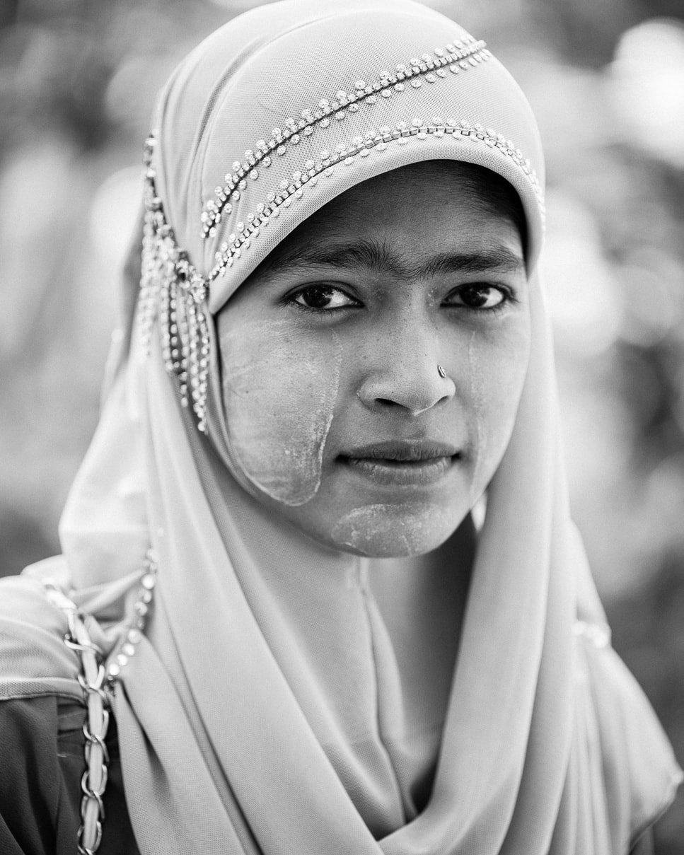 A young Muslim girl in Dala Township