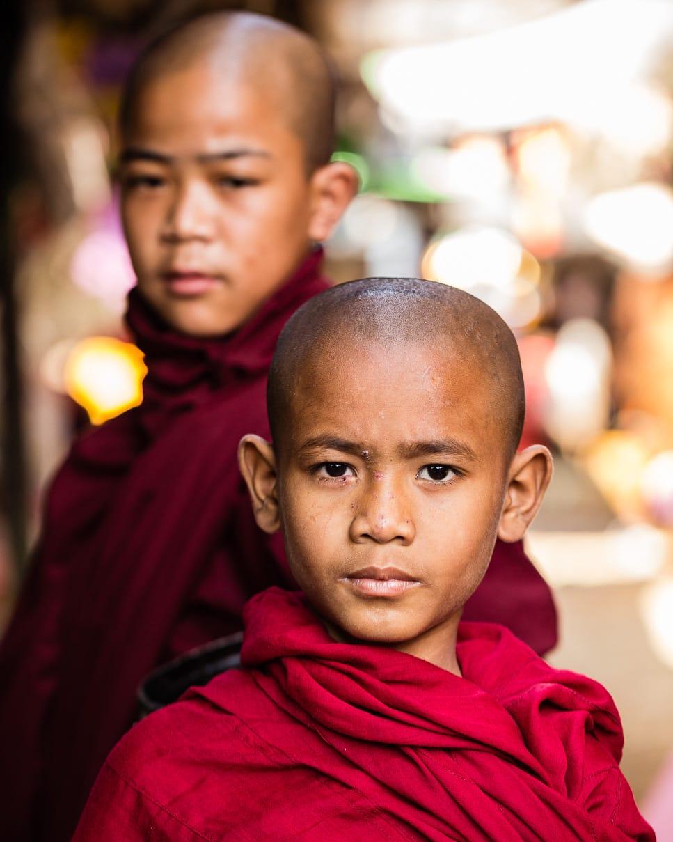 Two novice monks in Myanmar