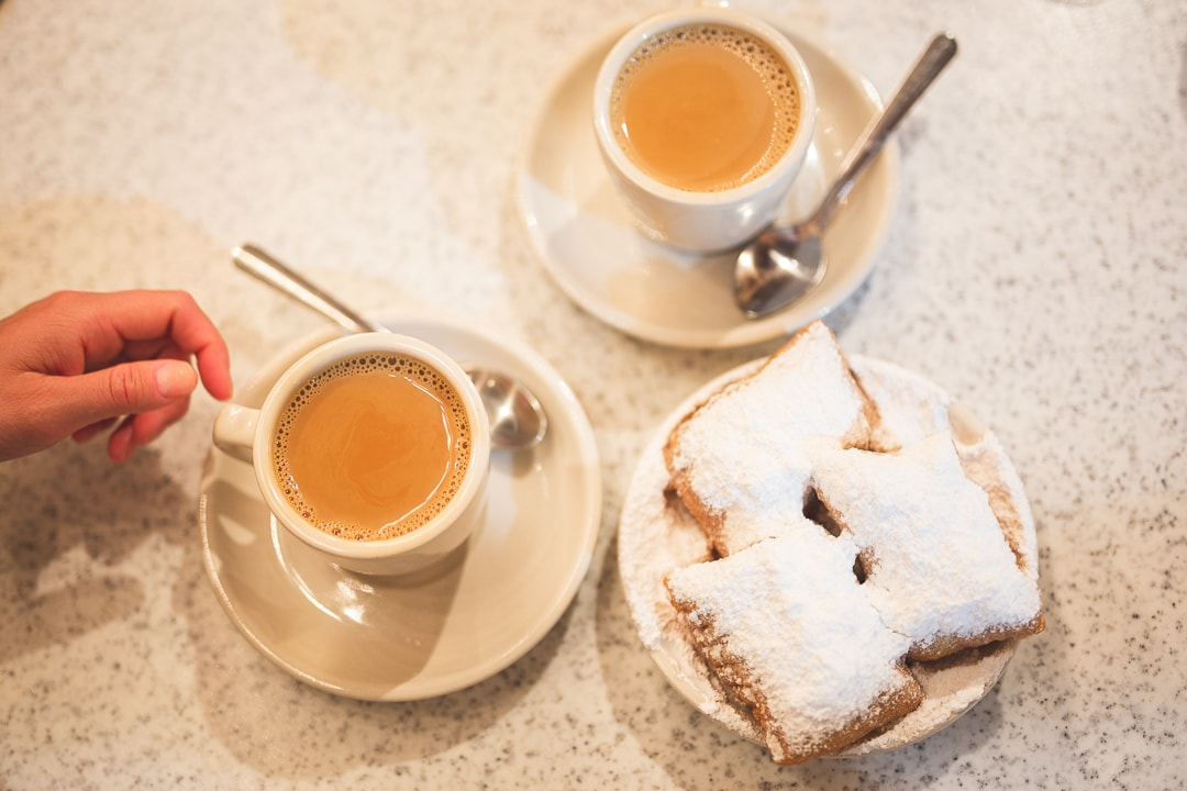 Beignets and coffee for Where to Eat in New Orleans