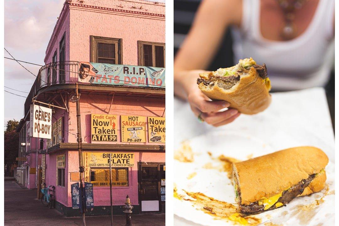 Gene's Po-boy in New Orleans, Louisiana