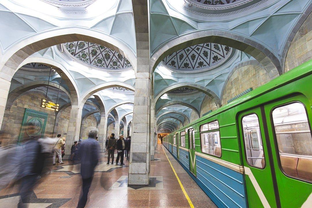 Alisher Navoi metro station in Tashkent, Uzbekistan