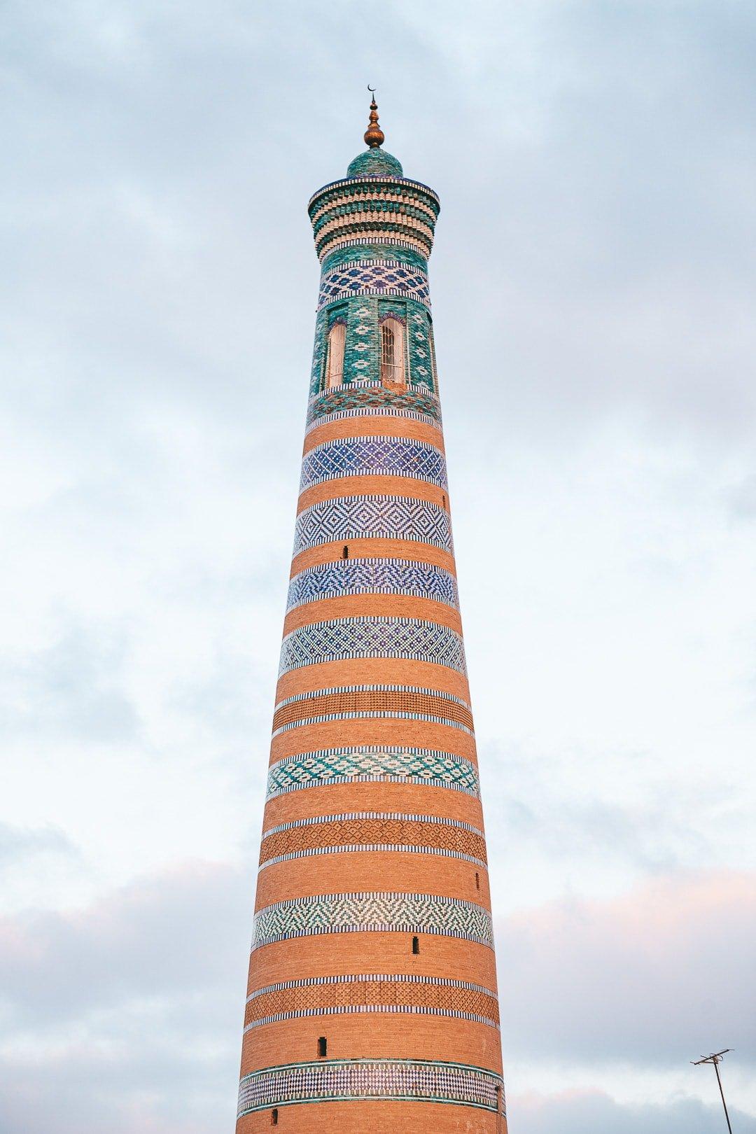 Islam Khodja minaret Khiva, Uzbekistan