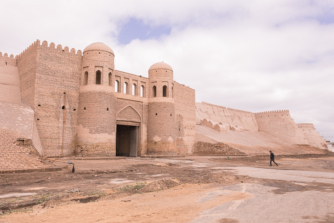 South gate of the Itchan Kala in Khiva, Uzbekistan
