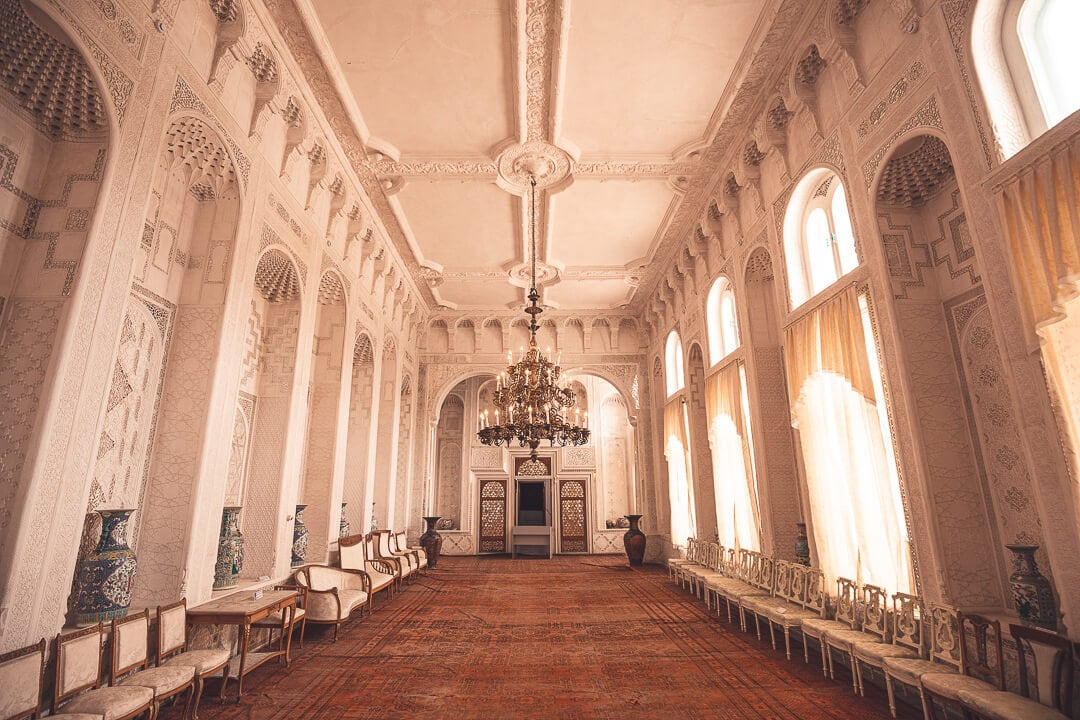 Interior of the Summer Palace of the last emir