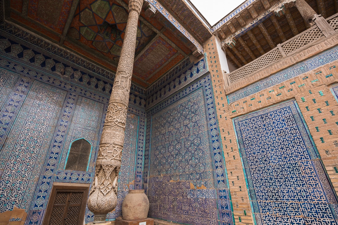 Interior of the Tash Khauli in Khiva, Uzbekistan