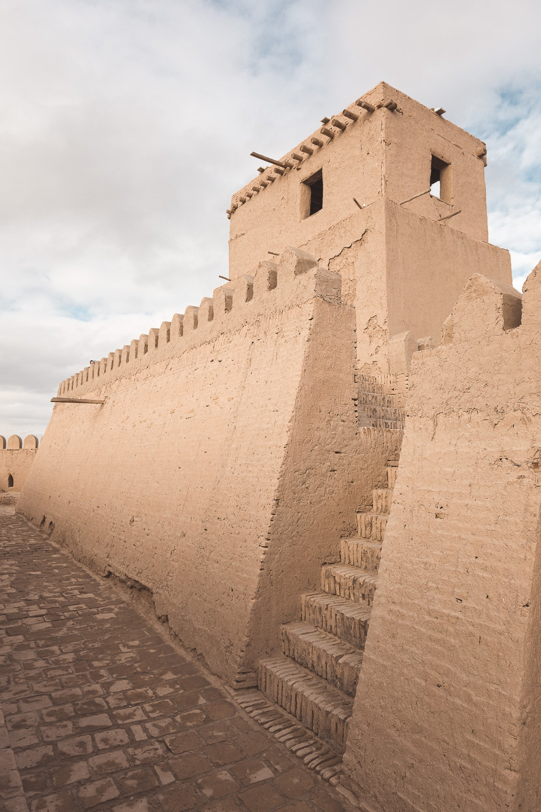 The watchtower at the top of the Kuhna Ark in Khiva