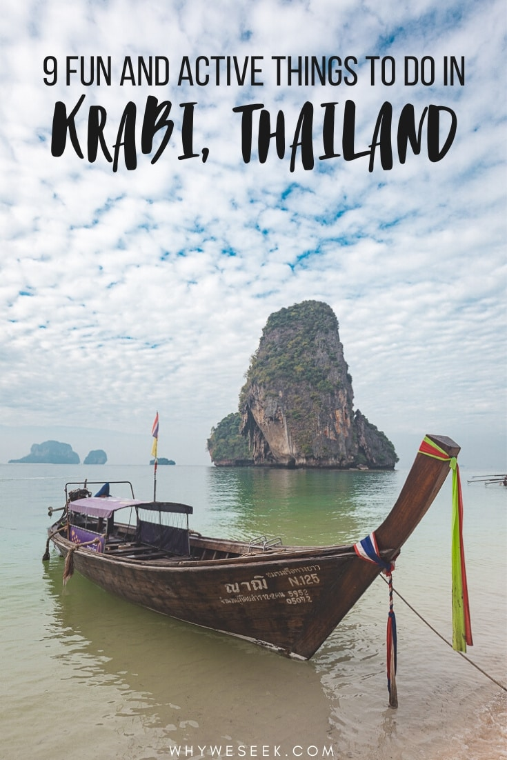 9 Fun and Active Things to do in Krabi, Thailand // Why We Seek