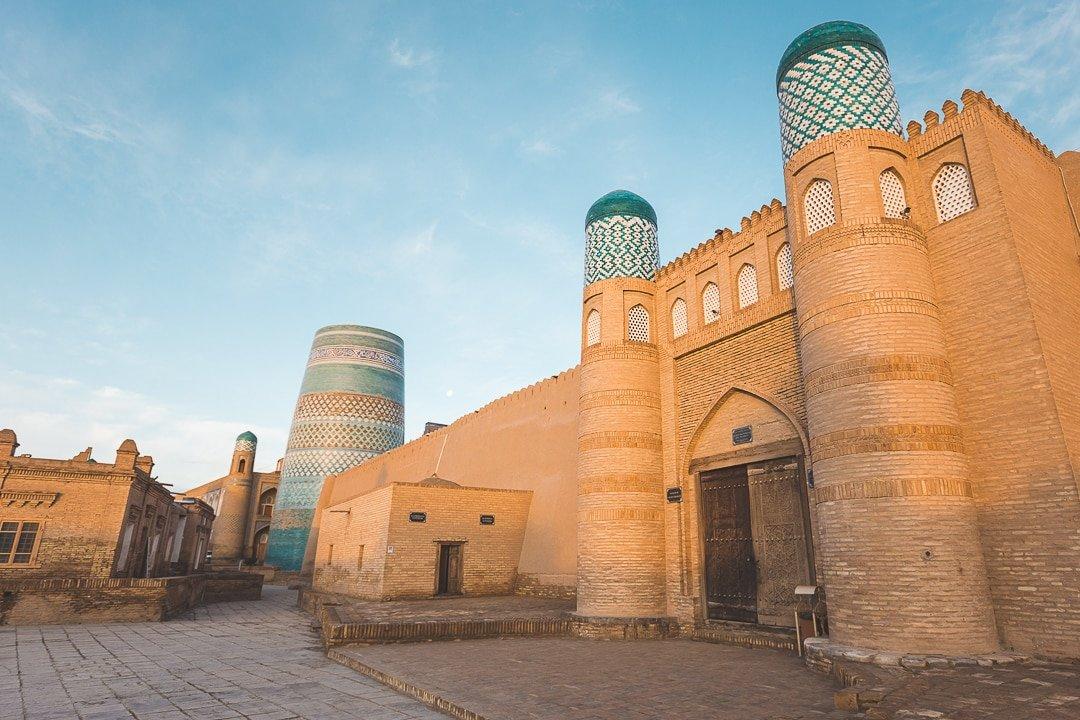 The Kuhna Ark inside the Itchan Kala, Khiva. Everything you need to know about Uzbekistan.