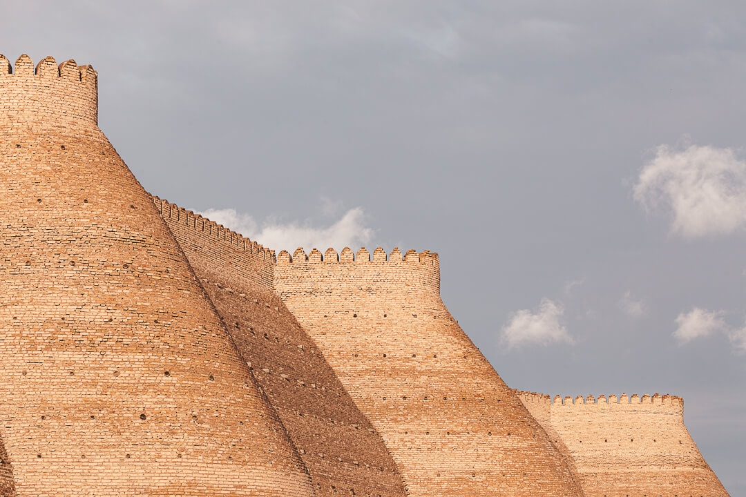 View of the walls around the Ark of Bukhara