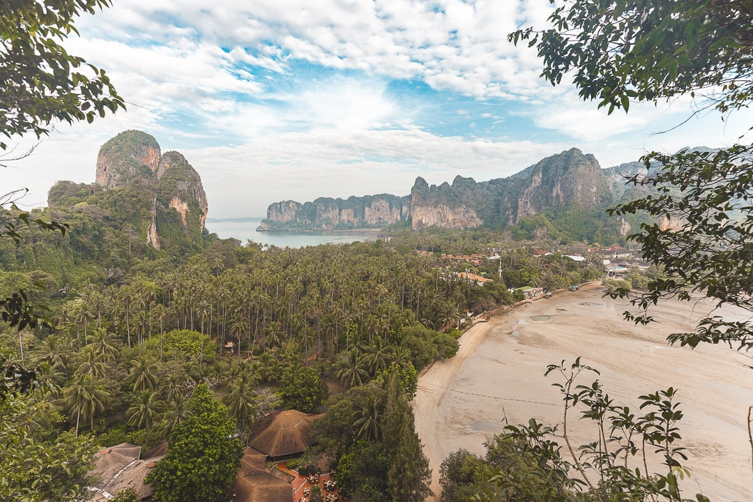 Railay Beach viewpoint in Krabi, Thailand