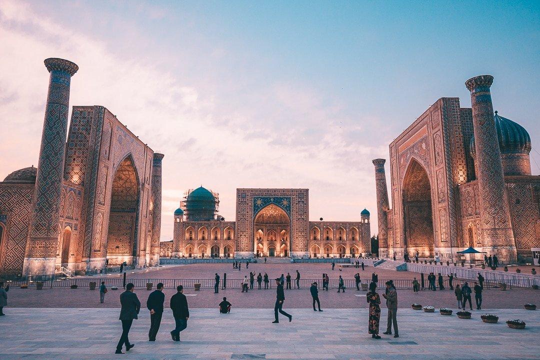 View of Registan Square in Samarkand