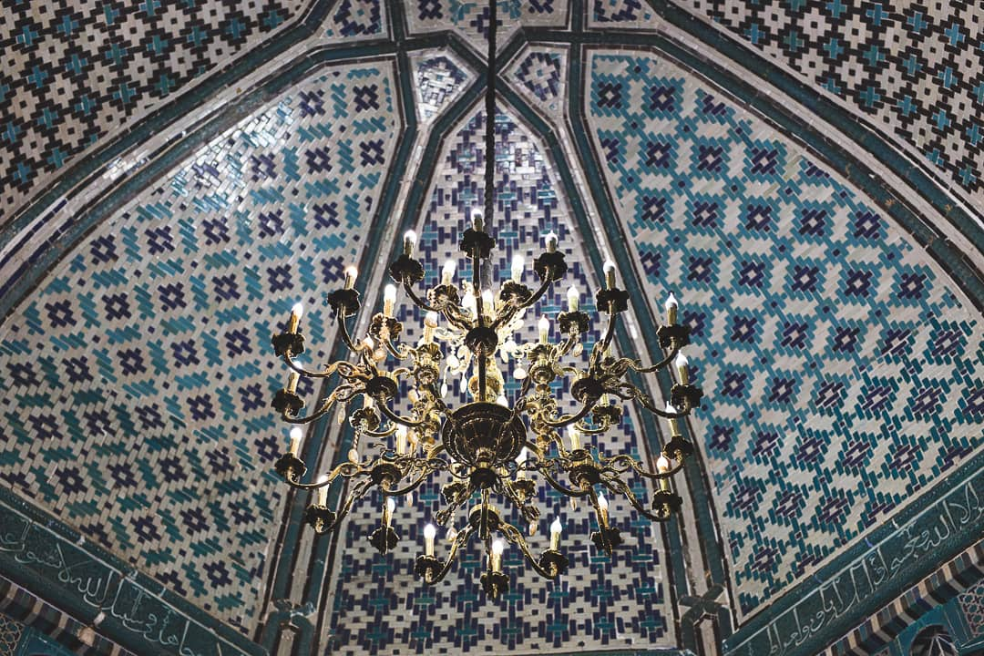 Ceiling of a mausoleum at Shah-i-Zinda