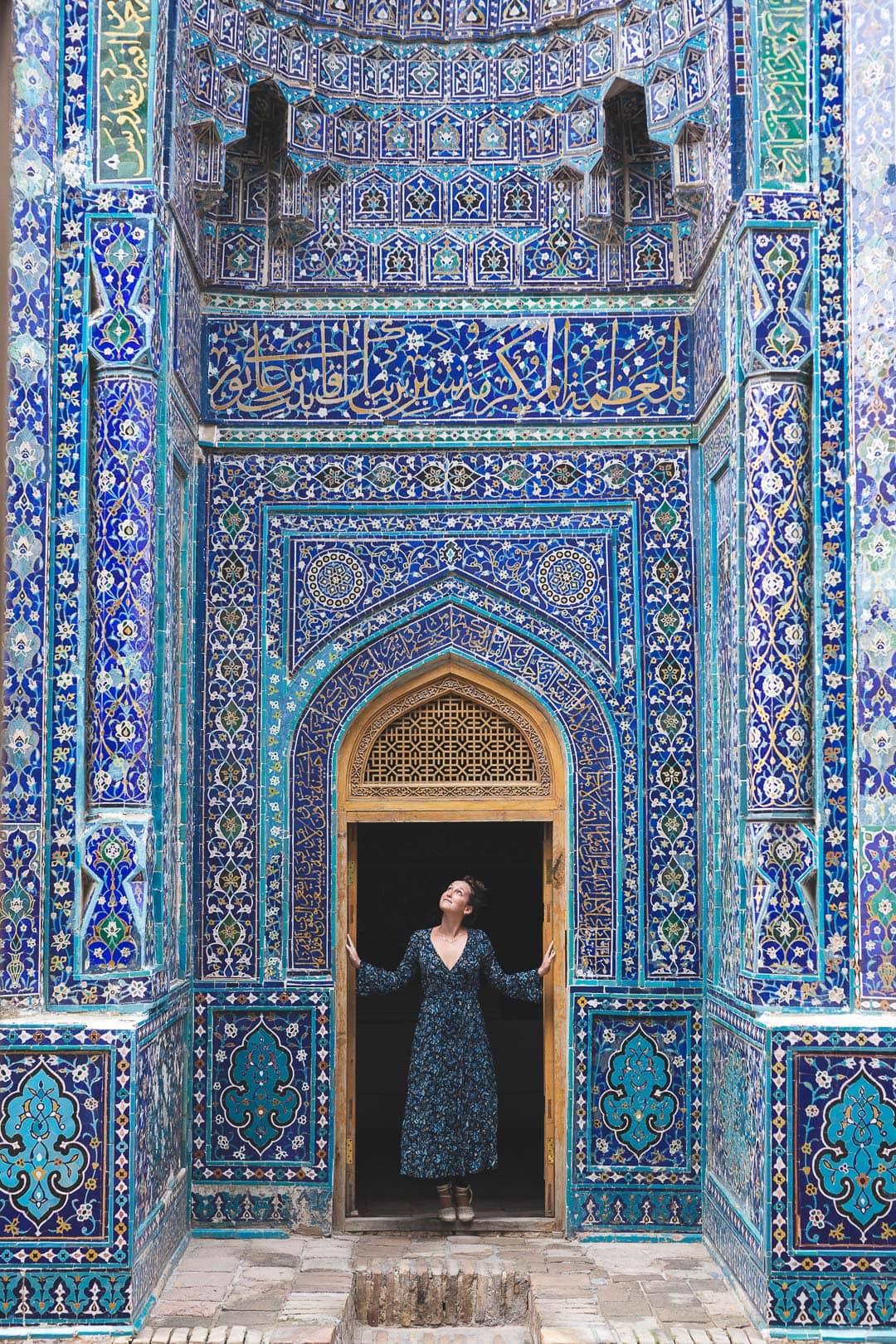 Shah-i-zinda mausoleum in Samarkand, Uzbekistan