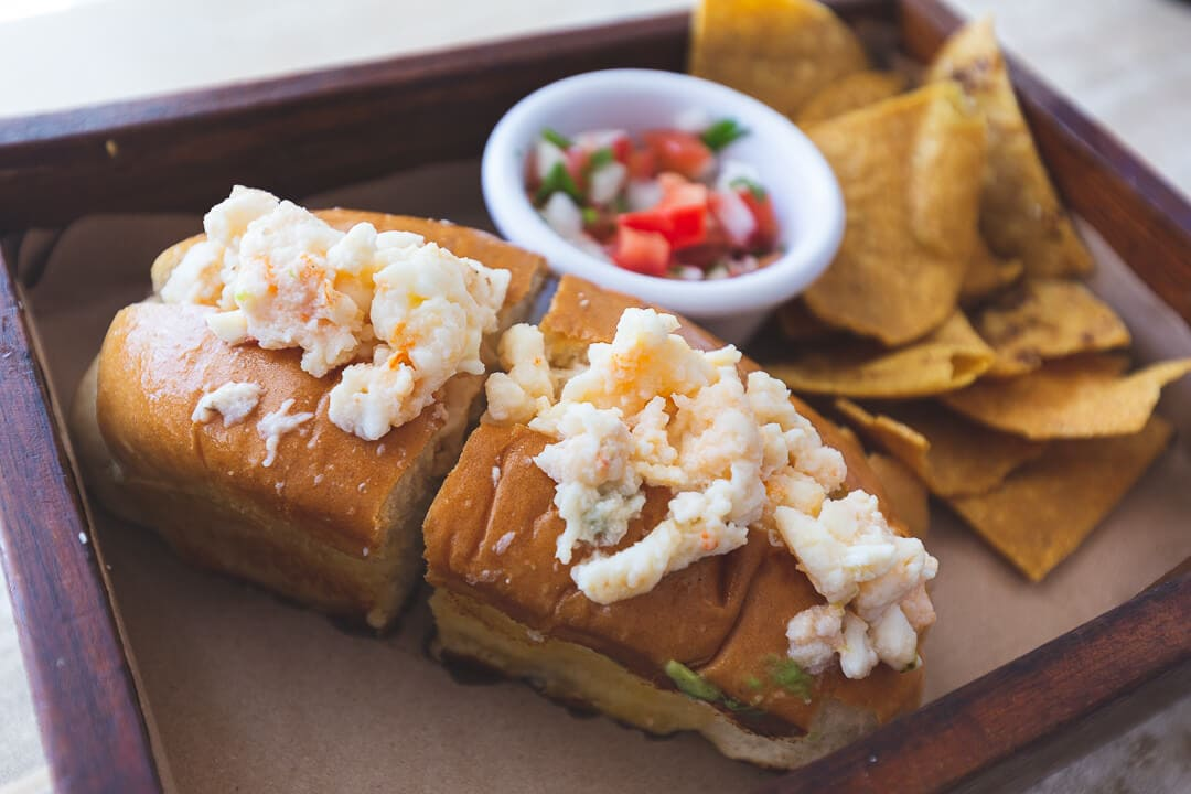Lobster roll from the Lobster Shack